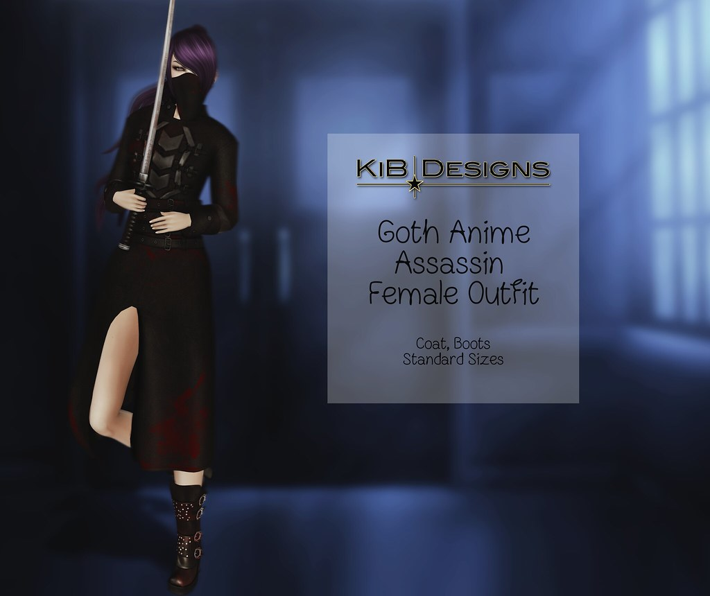 KiB Designs – Goth Anime Assassin Female