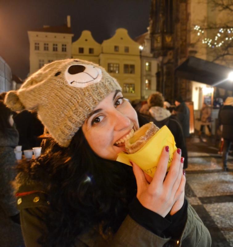 ¡A disfrutar! · Trdelník · Praga en Navidad ·