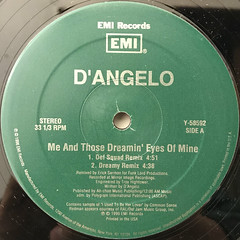 D'ANGERO:ME AND THOSE DREAMIN' EYES OF MINE(LABEL SIDE-A)