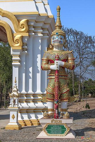 Wat Mongkhon Wari Temple Gate Guardian Giant (DTHCM1556) วัดมงคลวารี ยักษ์พิทักษ์ ท้าวกุเวณ ประตูวัด