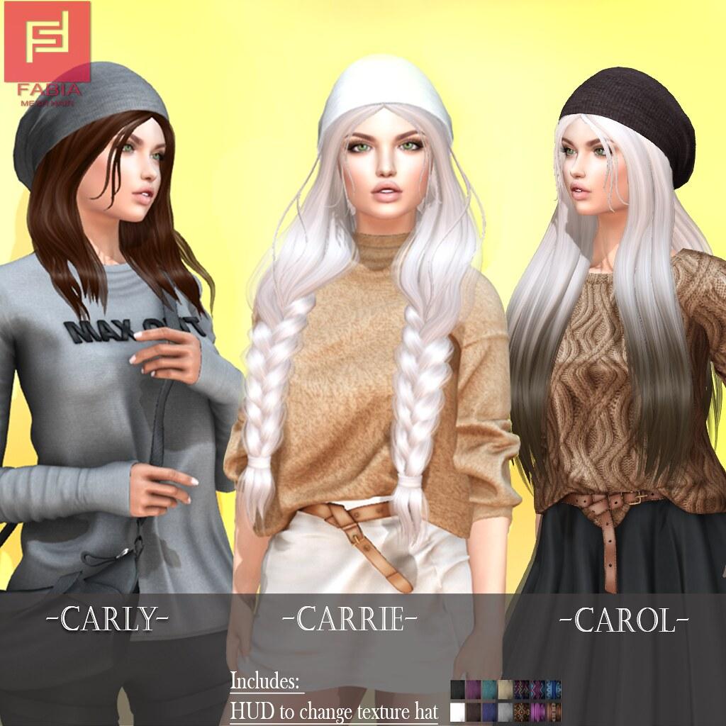 -FABIA- Mesh Hair  <Carly/Carol/Carry> - TeleportHub.com Live!