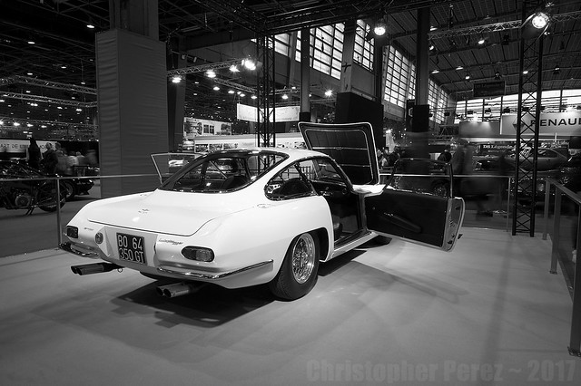 Automobiles in Black and White ~ Retromobile, Paris