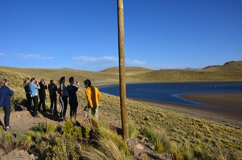 Alle Touristen machen ihr Foto von der Lagune Lagunillas.