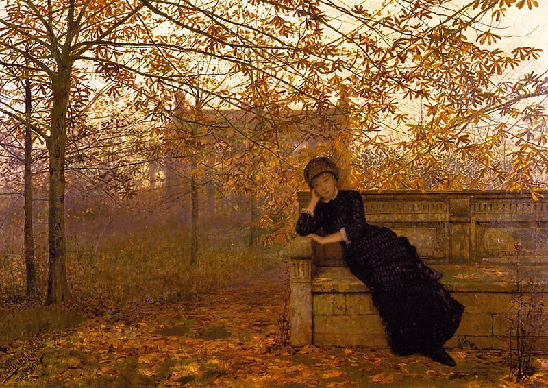 Autumn Regrets by John Atkinson Grimshaw, 1882