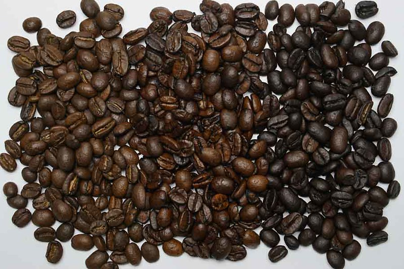 Comparing light, medium and dark roasted coffee