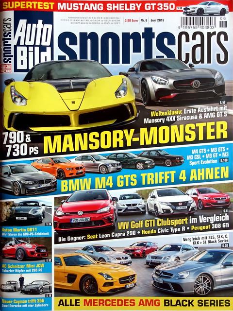 Auto Bild Sportscars 6/2016