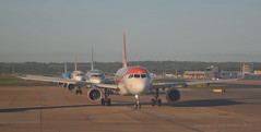 Lined up for take-off at Gatwick 6 October 2017