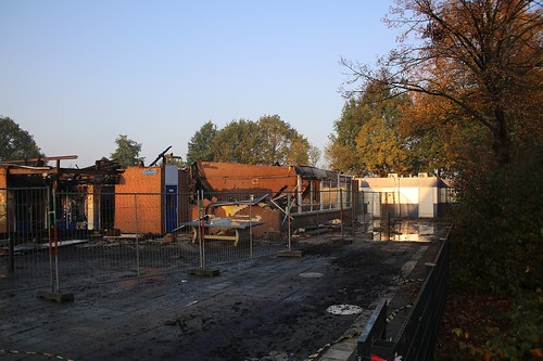 De restanten van basisschool Het Driespan © WEEFF.NL