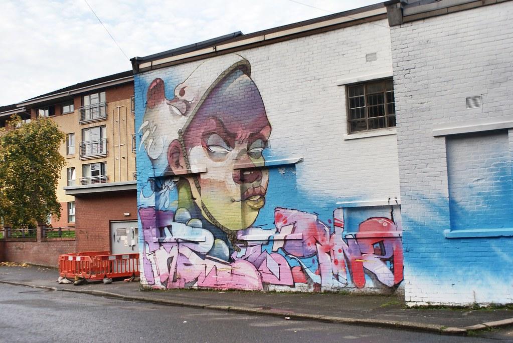 Street art dans le quartier de Finnieston, Glasgow.