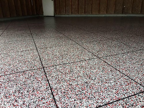 Epoxy Tile Flake Garage- Gulfport, MS