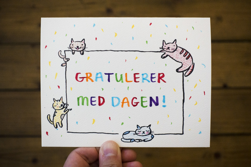 Cat Themed Birthday Card For Kim