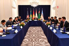 Secretary Tillerson Participates in the C5+1 Multilateral Meeting in New York City