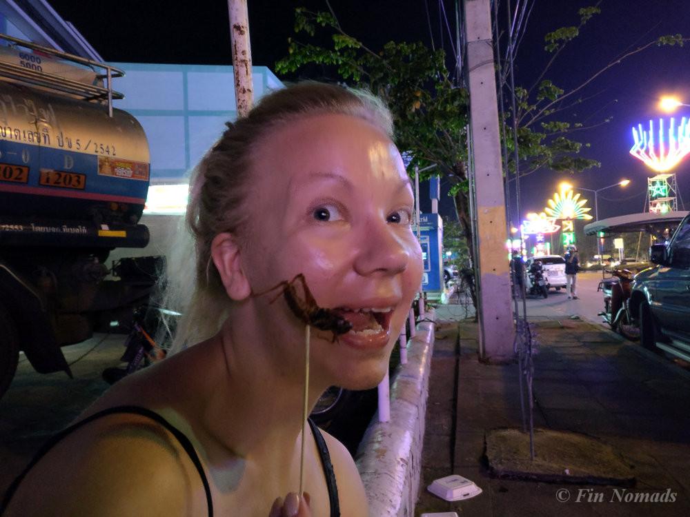 grasshopper weird foods thailand