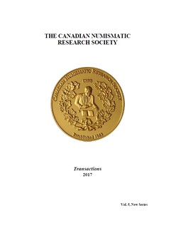 Canadian Numismtic Research Society Transactions 2017