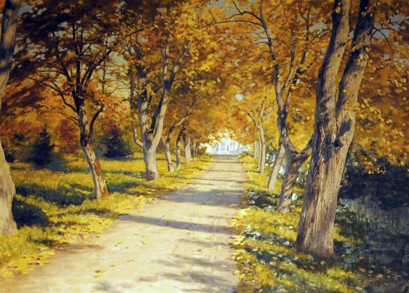Autumn Alley by Johan Krouthén, 1917