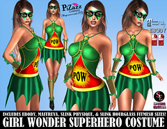 GIRL WONDER SUPERHERO COSTUME PIC