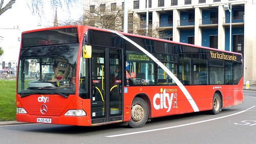 WJ55 HLR 'Plymouth citybus' No. 87 'city' Mercedes-Benz Citaro on 'Dennis Basford's railsroadsrunways.blogspot.co.uk'