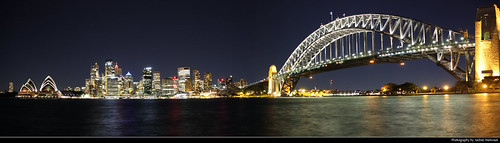 Sydney Harbour Panorama @ Night, Australia