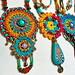 Crochet jewelry with handmade Fimo clay beads by AowDusdee