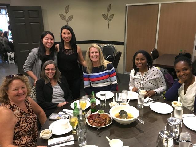 dinner group photo