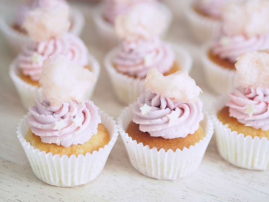 candy floss cupcakes 1
