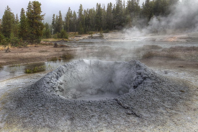 Yellowstone Secrets: A big mud volcano