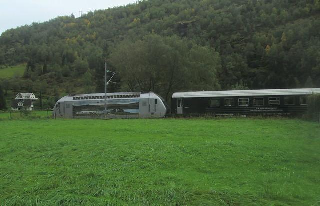 Flåmsbana Train in Flåm, Norway