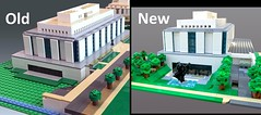 Comparison of the original design and the redesign of the west side of the National Museum of American History