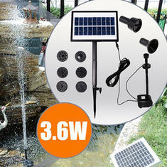 9V 3.6W Solar Power DC Brushless Water Pump Garden Landscape Fountain With White LED (1006714) #Banggood