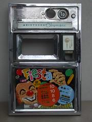 Vintage Aristocrat Olympic Fiesta Chrome Amusement Arcade Fruit Machine Frontage With Creepy Clown 1950's 60's
