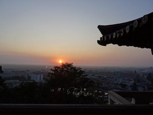 2017 dprk noordkorea northkorea sariwon zonsondergang sunset