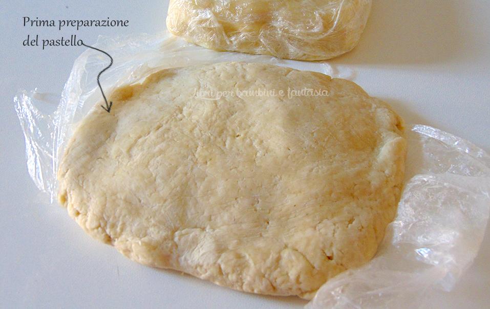 prima preparazione del pastello