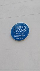 Photo of Emyr Estyn Evans blue plaque
