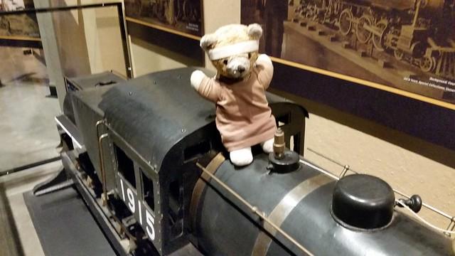 Kuma on the Train