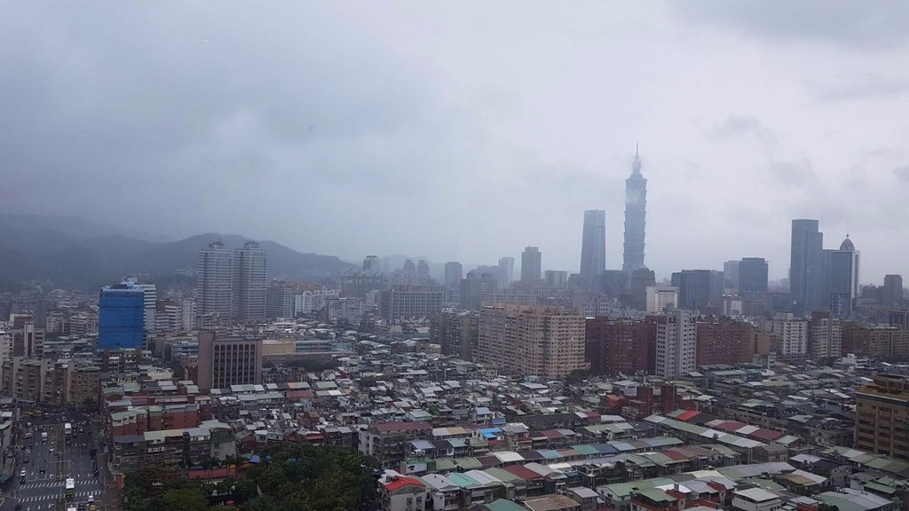 View on Rainy Taipei