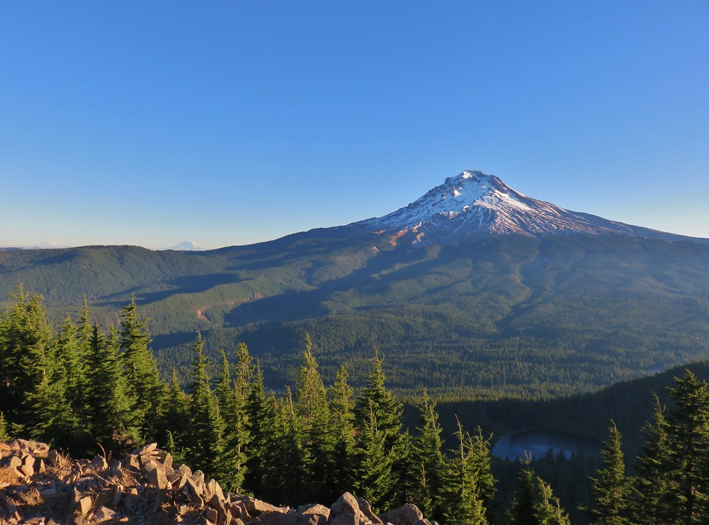 Mt. Adams, Mt. Hood and Mirror Lake