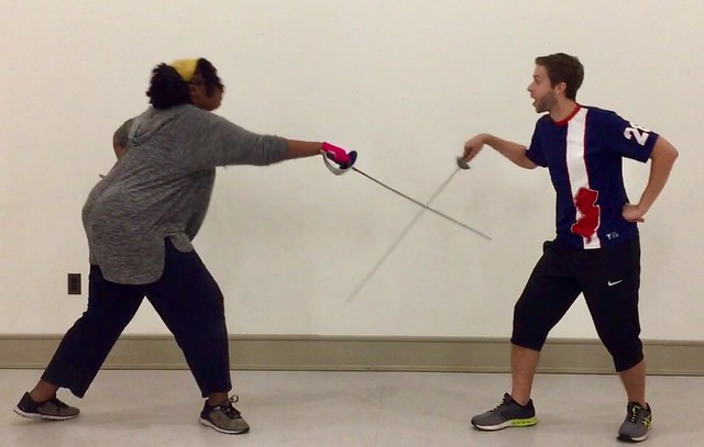 Learning to sword fight