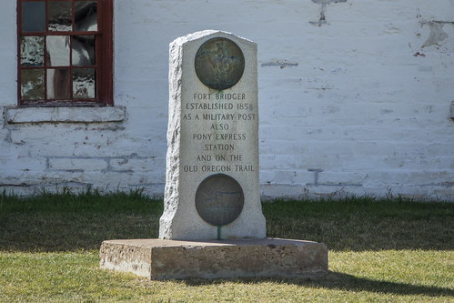 Stone marker at Fort Bridger WY-01 9-13-17