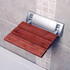 Bathroom Solid Wood Folding Shower Seat Wall Chair Spacing Saving Wall Mounted Seat Relaxation (1141177) #Banggood