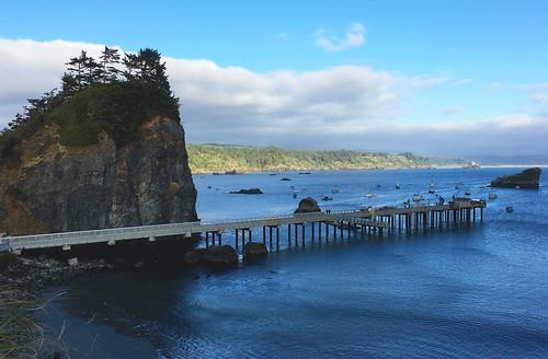 harbor pier pacificocean cliff boats trinidad humboldtcounty california