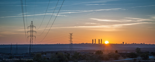 madrid españa spain sunrise amanecer landscape paisaje nikon panorama sol sun cielo sky torredealtatensión ngc