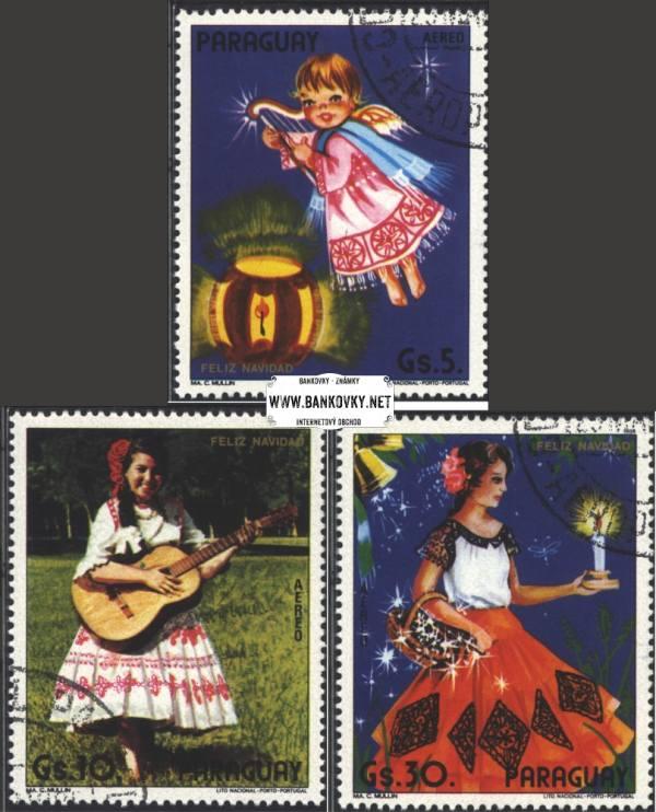 Známky Paraguaj 1984 Vianoce, razítkovaná séria