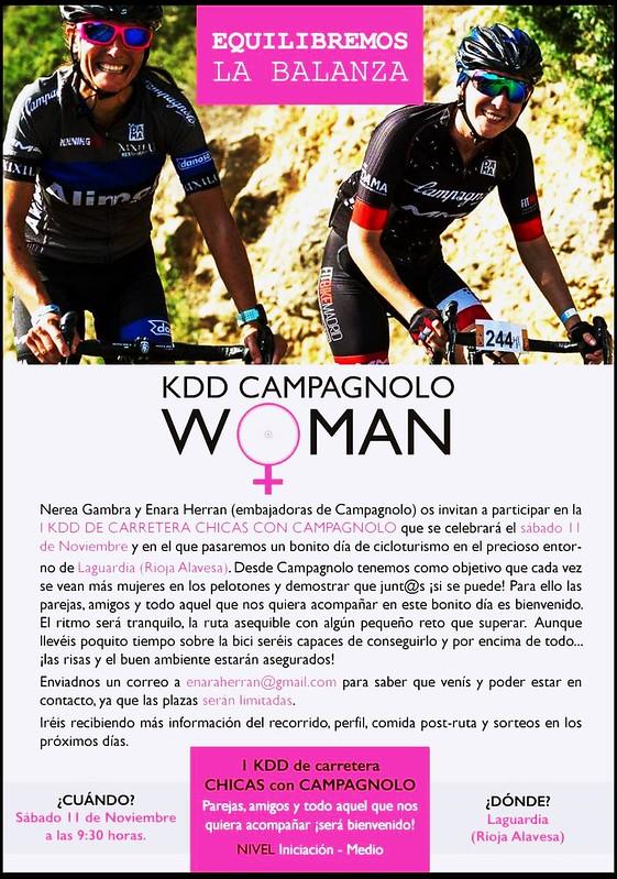 Kdd Campagnolo Woman: Kdd bicicleta carretera para mujeres