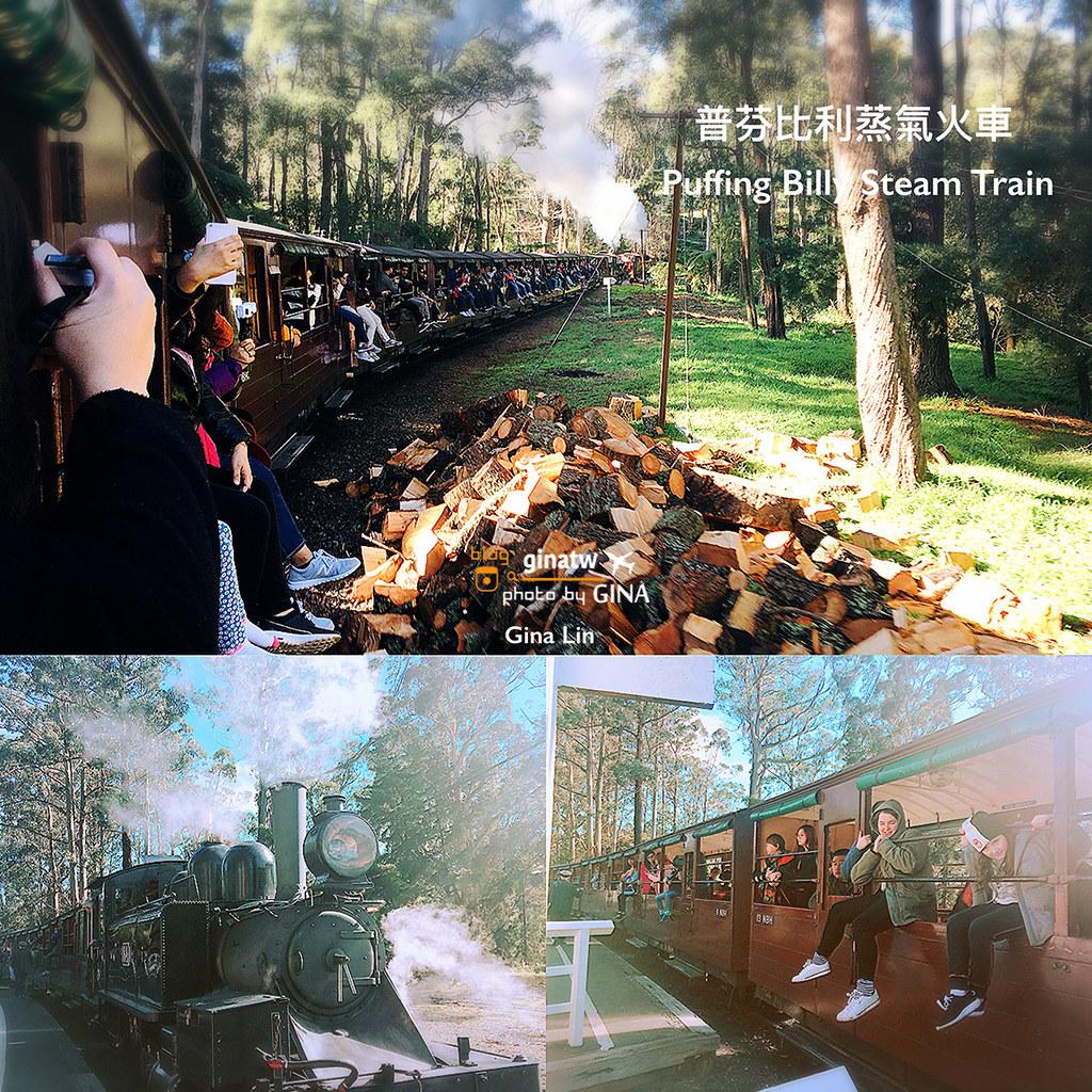 【墨爾本必玩景點】2020普芬比利蒸汽火車|百年古老鐵路(Puffing Billy Railway)雪博魯克森林喝早茶.墨爾本品酒 @GINA LIN