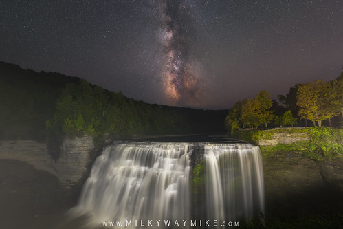 Middle Falls Milky Way