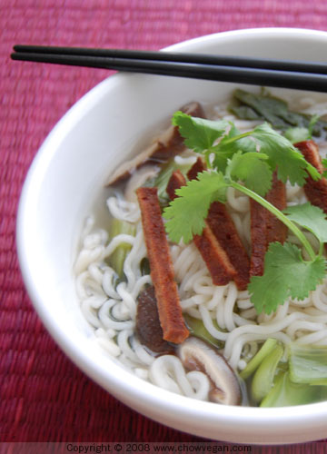 Chinese Noodle Soup | Chow Vegan