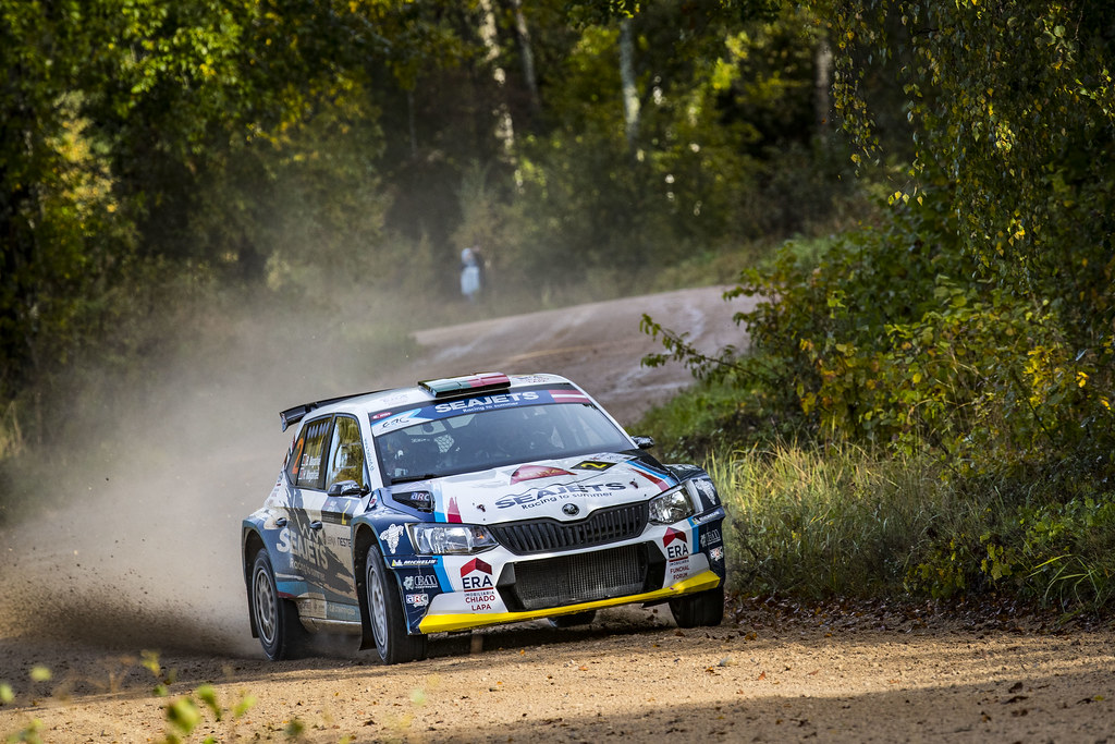 02 Magalhaes Bruno and Magalhaes Hugo, Skoda Fabia R5 action during the 2017 European Rally Championship ERC Liepaja rally,  from october 6 to 8, at Liepaja, Lettonie - Photo Gregory Lenormand / DPPI