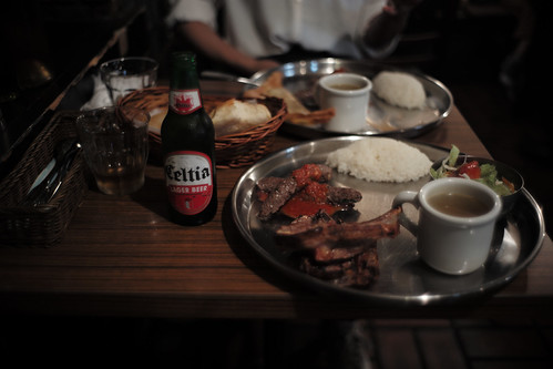 spareribs & shish kabob & bier