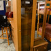 Tall beech glass display unit E125