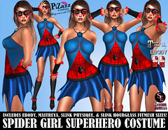 SPIDER GIRL SUPERHERO COSTUME PIC